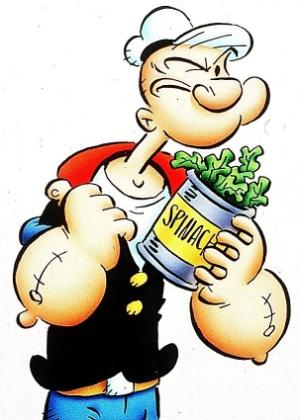 Por erro decimal em uma publicação, a força do marinheiro Popeye foi atribuída ao consumo de espinafre, quando na verdade deveria ser de fígado de galinha
