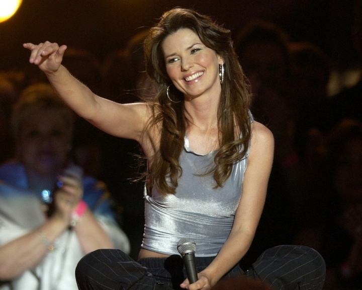 M&#237;dia, wap: Cantora country canadense Shania Twain