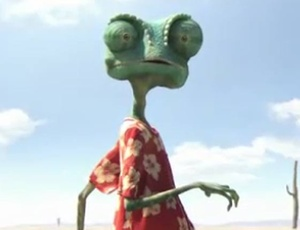 Cena do filme &#34;Rango&#34;, anima&#231;&#227;o que se passa no Velho Oeste