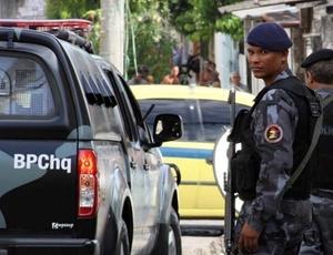 Uniforme atualmente usado pelo Batalhão de Choque, um dos grupos da Polícia Militar do Rio de Janeiro