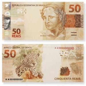 Modelo de cédulas de R$ 50; Polícia Federal investiga sumiço de cem notas da Casa da Moeda