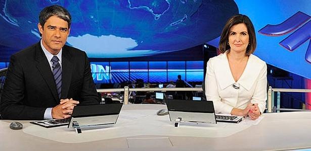 William Bonner e Fátima Bernardes, âncoras do Jornal Nacional