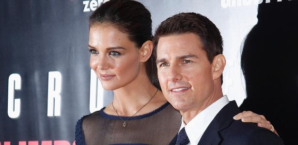 Tom Cruise e Katie Holmes na pré-estreia de Missão: Impossível - Protocolo Fantasma, em Nova York