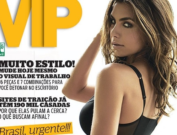 Capa da revista VIP com a filha do Datena, Let&#237;cia Wiermann