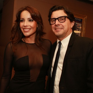 O casal Renata Dominguez e Edson Spinello (27/03/2012)