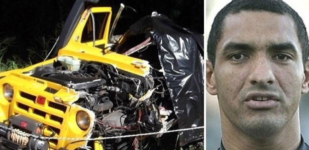 Veículo em que estava Fábio Costa ficou destruído em acidente na rodovia Rio-Santos