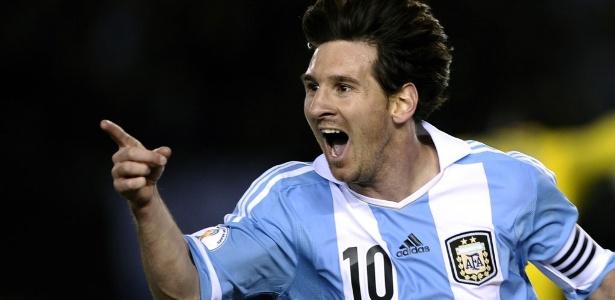 Messi fez o terceiro gol da Argentina na goleada sobre o Equador