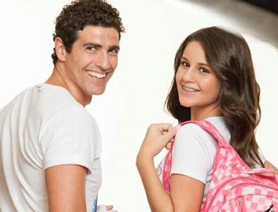 Reynaldo Gianecchini fotografa com a sobrinha para campanha