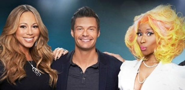 "Mariah Carey, Ryan Seacreast e Nicki Minaj em foto oficial do programa ""American Idol"""