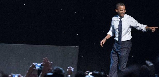 O presidente norte-americano Barack Obama, que deu sua opinião sobre o desentendimento entre Nicki Minaj e Mariah Carey