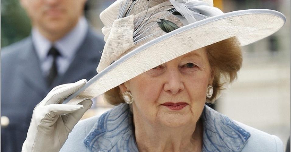 A ex-premiê britânica Margaret Thatcher