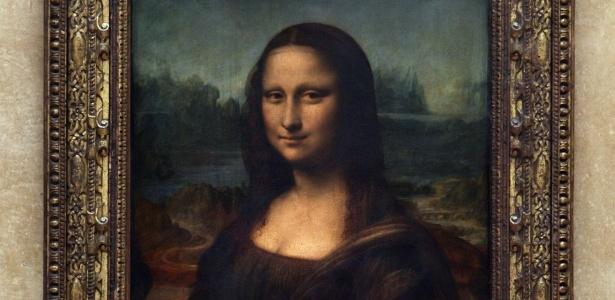 """""""Mona Lisa"""", quadro de Leonardo da Vinci no Museu do Louvre em Paris, França - Jean-Pierre Muller/AFP"""