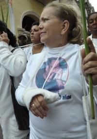 """Laura (foto) diz que a libertação dos presos é um """"primeiro passo positivo"""", mas não """"representa<br> uma nova etapa"""" em Cuba"""