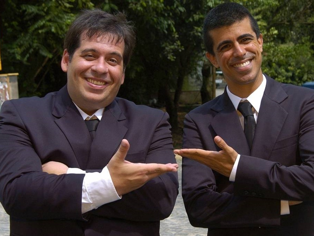 Os atores Leandro Hassum e Marcius Melhem, do programa