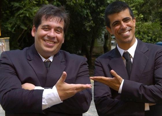 """Os atores Leandro Hassum e Marcius Melhem, do programa """"Os Caras de Pau"""""""