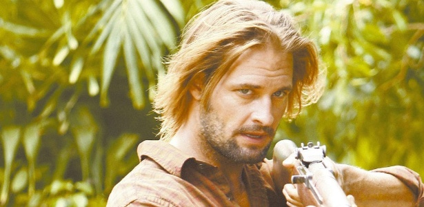 "Josh Holloway interpretando Sawyer em ""Lost"""
