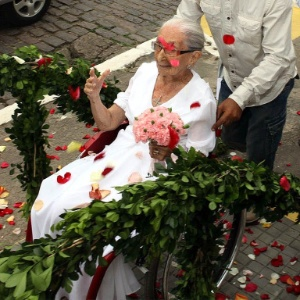 Dona Canô em seu aniversário de 103 anos - Marco Aurélio Martins/Ag. A Tarde/Futura Press