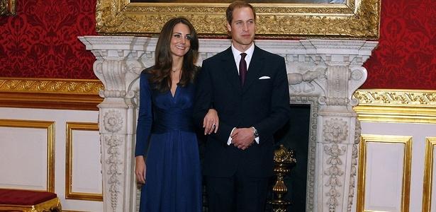 O casal real no dia do anúncio do noivado - Kristy Wigglesworth/AP