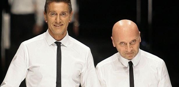 Os estilistas da grife italiana Dolce & Gabbana Stefano Gabbana e Domenico Dolce - Alessandro Garofalo/Reuters