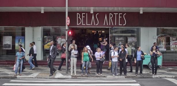 Fachada do Belas Artes, na Rua da Consolação, em São Paulo, fechado desde março de 2011