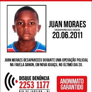 Juan Moraes, 11, foi morto por policiais militares do batalhão de Mesquita (20º BPM) durante operação para reprimir o tráfico de drogas