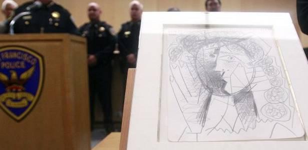 Polícia de São Francisco, na Califórnia (EUA), recupera obra de Pablo Picasso furtada de galeria de arte - Justin Sullivan/Getty Images/AFP
