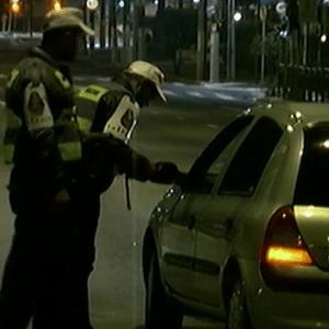 Polícia em blitz da Lei Seca em SP