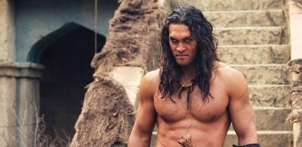 """O ator havaiano Jason Momoa na refilmagem de """"Conan, o Bárbaro"""""""