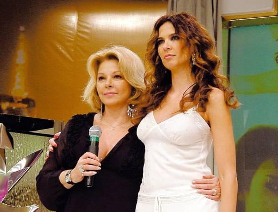 Apresentadora Luciana Gimenez e sua mãe, a atriz Vera Gimenez