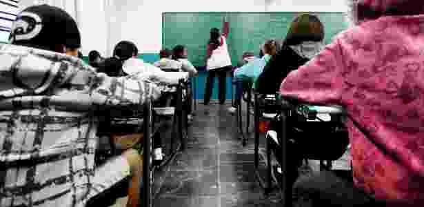 Escola estadual superlotada na zona sul de São Paulo - Apu Gomes/Folhapress