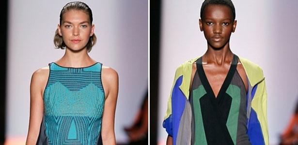 Modelos desfilam no primeiro dia da Semana de Moda de Nova York - Getty Images/Montagem UOL