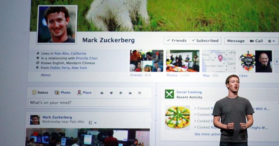Mark Zuckerberg, fundador do Fabebook, apresenta mudanças na rede social