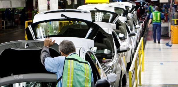 Linha de montagem automotiva em SP; investimento prometido é de US$ 30 bilhões em cinco anos - Rodrigo Paiva/Folhapress