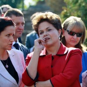 Dilma na Bulgária, depois do encontro com Valcke