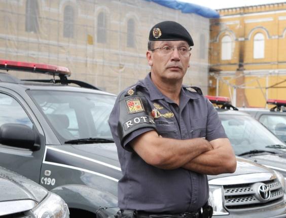 Tenente-coronel Salvador Modesto Madia, novo comandante da Rota (Rondas Ostensivas Tobias de Aguiar), é réu no processo do massacre do Carandiru, em 1992