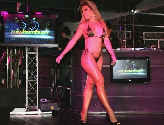 A bailarina Rosana Ferreira, 25 anos, representante do Ceará, foi consagrada com o título de Miss Bumbum 2011