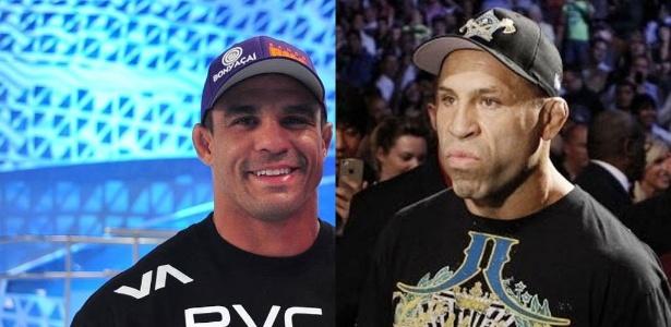 Os lutadores brasileiros Vitor Belfort e Wanderlei Silva, que comandarão reality show do UFC na Globo