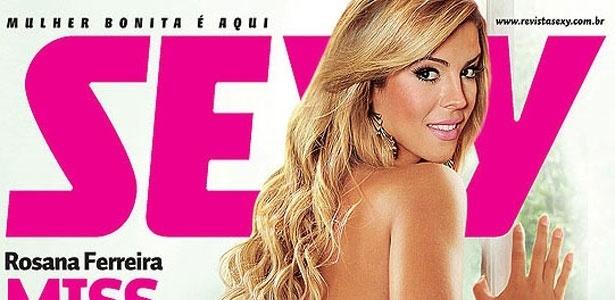 A Miss Bumbum, Rosana Ferreira, é a capa da edição de janeiro da revista Sexy