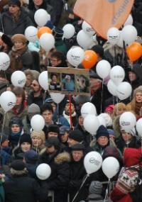 Protesto reúne dezenas de milhares de pessoas na Rússia