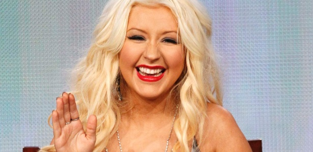 "Christina Aguilera na versão americana do reality show ""The Voice"""