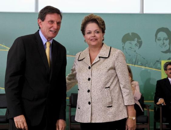 Presidenta Dilma Rousseff durante cerimônia de posse do Ministro da Pesca e Aquicultura, Marcelo Crivella. (Brasília - DF, 02/03/2012)