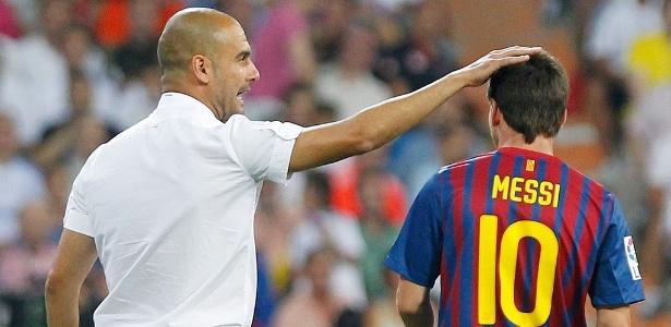 Guardiola e Messi tiveram uma forte ligação no Barcelona