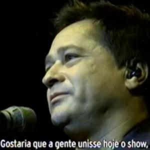 Reprodução - vídeo Em show no Rio, Leonardo pede orações pelo filho internado