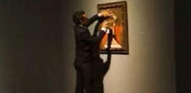 Vândalo picha quadro de Picasso em museu de Houston, nos EUA - Reprodução