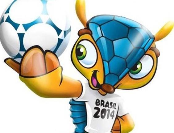 Tatu-bola, ainda sem nome, que será a mascote oficial da Copa 2014