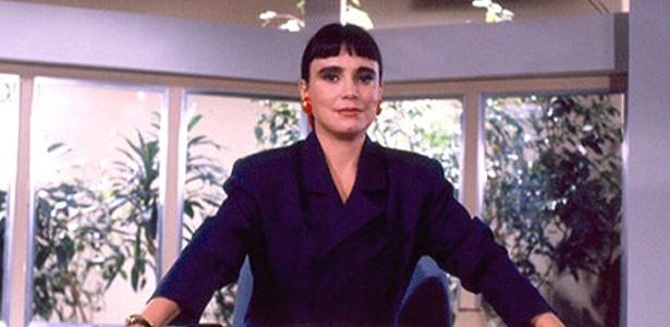 """Regina Duarte como Maria do Carmo em cena da novela """"Rainha da Sucata"""" (1990)"""