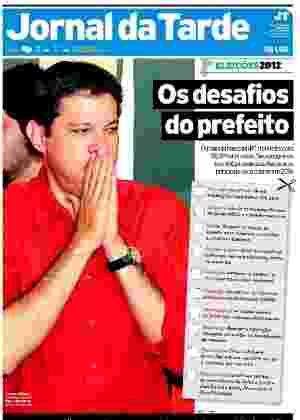 Reprodução da capa do Jornal da Tarde do dia 29/10/2012 - Reprodução/Jornal da Tarde